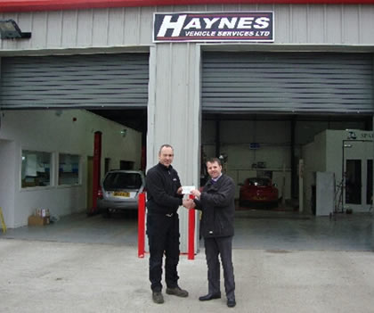 Haynes Vehicle Service Customer Service Award