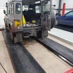 MOT Ramp at Haynes Vehicle Services